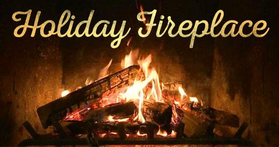Holiday Yule Log Fireplace