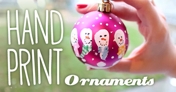 How To Make Handprint Snowman Ornaments