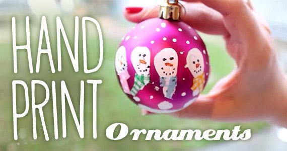 How To Make Handprint Snowman Ornaments