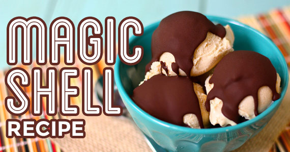 This 2 Ingredient Magic Shell Recipe is MAGICAL