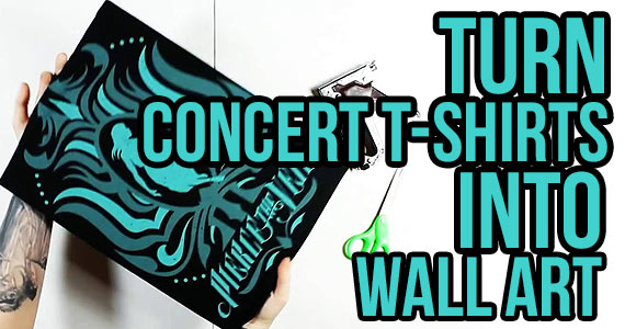 Turn Your Old Concert T-Shirt Into Wall Art