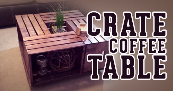 You Need To Make This Do It Yourself Crate Coffee Table