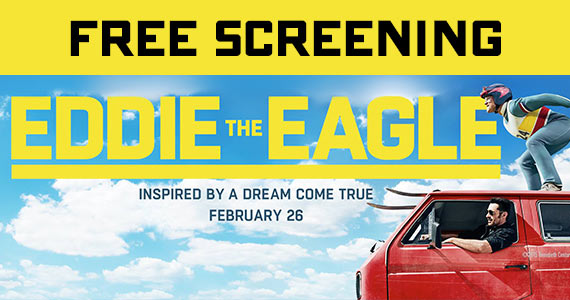 "Free Advanced Screening Tickets To ""Eddie The Eagle"""
