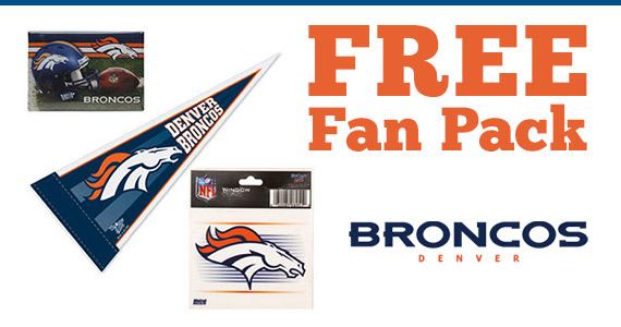 Free Denver Broncos Fan Pack