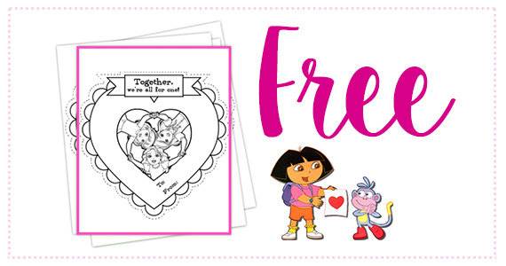 Free Dora and Friend's Printable Valentines