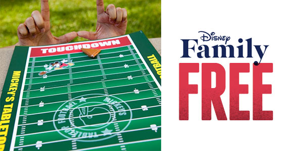Free Mickey's Tabletop Football Printable