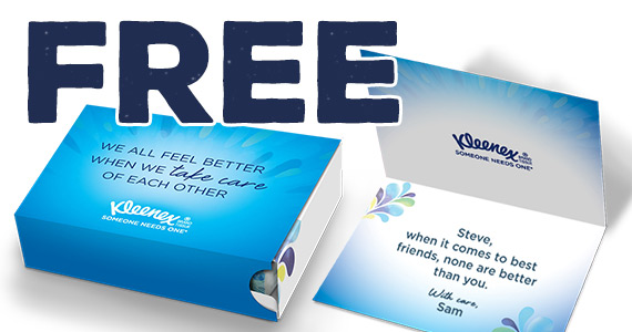 Free Personalized Kleenex Care Package