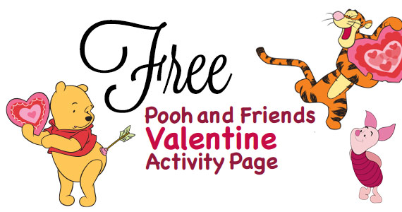 Free Pooh and Friends Valentine Activity Page
