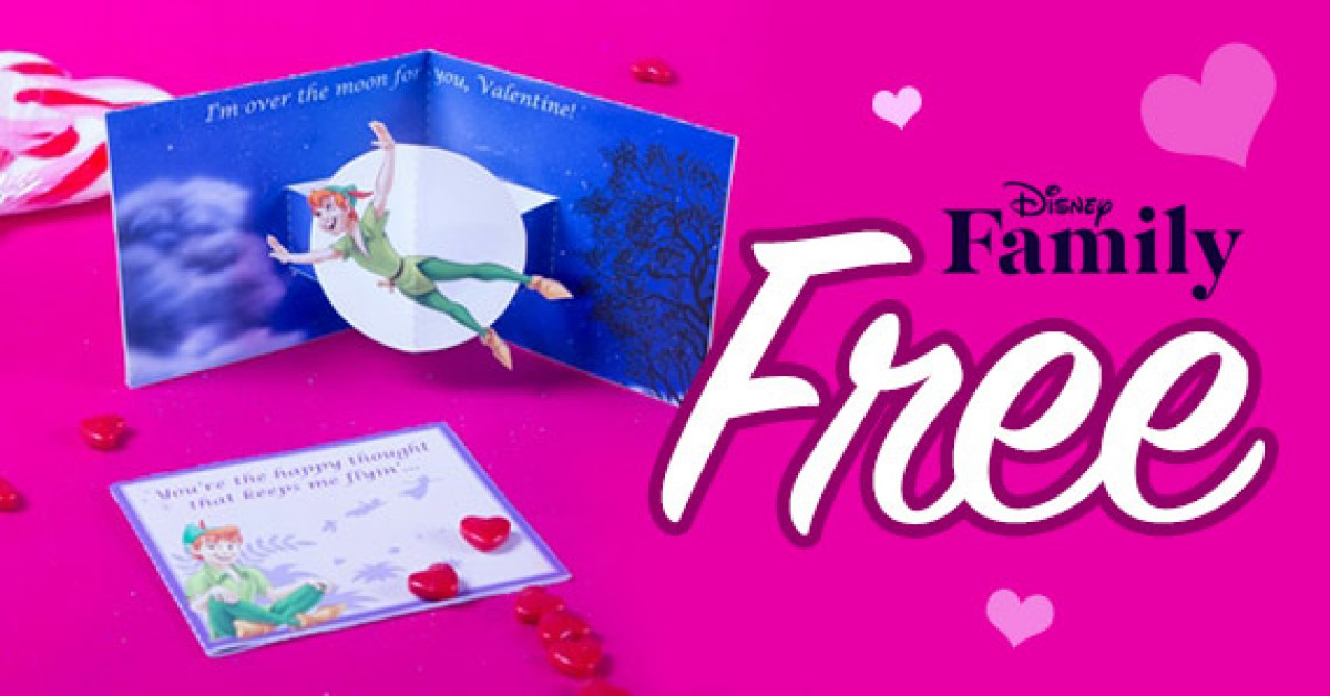 Free Printable Peter Pan Pop Up Valentine's Day Card