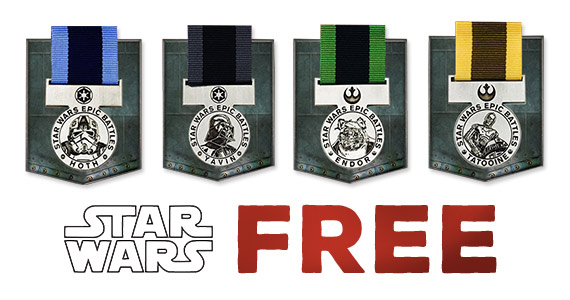 Free Star Wars Medals at Toys R Us