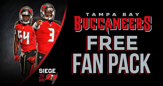 Free Tampa Bay Buccaneers Fan Pack