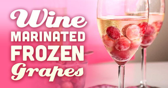 Wine Marinated Frozen Grapes Are Your New BFF