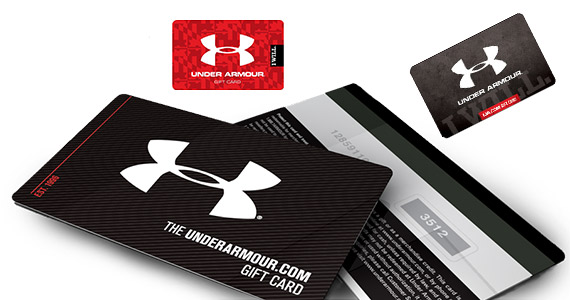 You Could Win 1 of 312 Under Armor Gift Cards