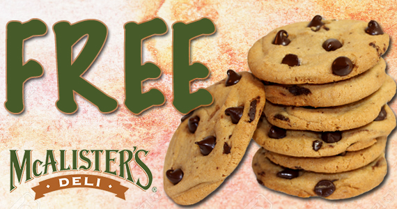 Free Cookie From McAlister's Deli