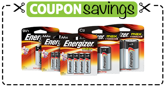 Save 55¢ off Energizer Max or EcoAdvanced Batteries