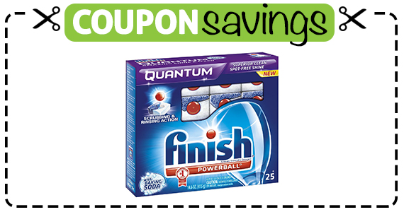Save 55¢ off Finish Dishwasher Detergent
