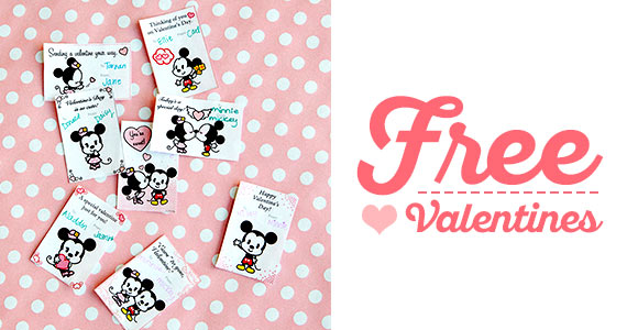 Free Printable Mickey and Minnie Cutie Valentines