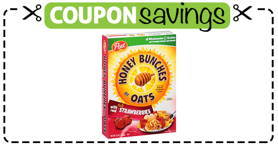 Save 75¢ off Honey Bunches of Oats Cereal