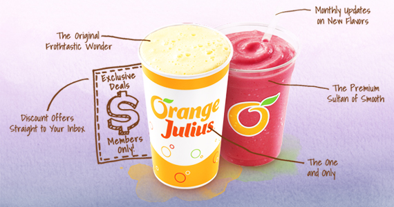 Join the Orange Julius League for a Free Drink