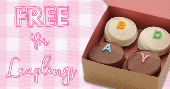 Free Sprinkles Cupcakes For Leap Year Babies
