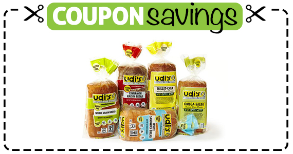 Save $1 off Udis Gluten Free Bread