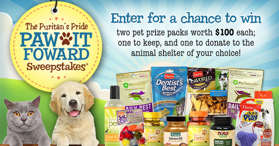 Win a $100 Pet Prize Pack