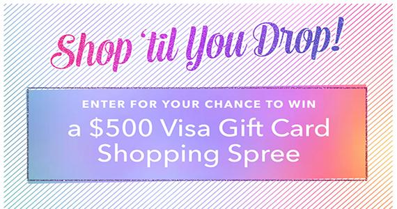 Win a $500 Prepaid Visa
