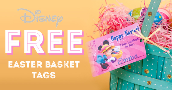 Free Mickey and Friends Easter Basket Tags