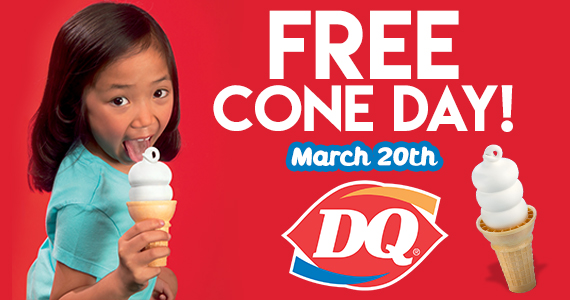 Dairy Queen Free Cone Day – TODAY ONLY