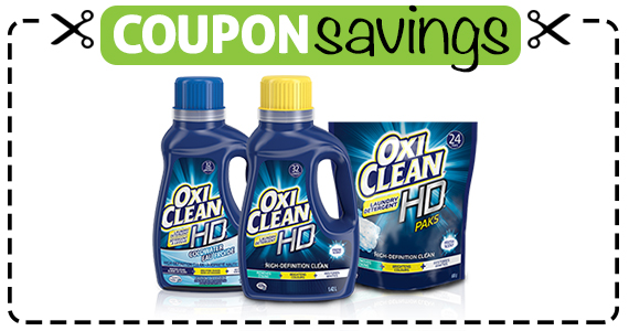 Save $2 off OxiClean HD Laundry Detergent