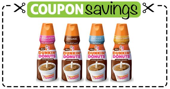 Save 75¢ off Dunkin' Donuts Coffee Creamer