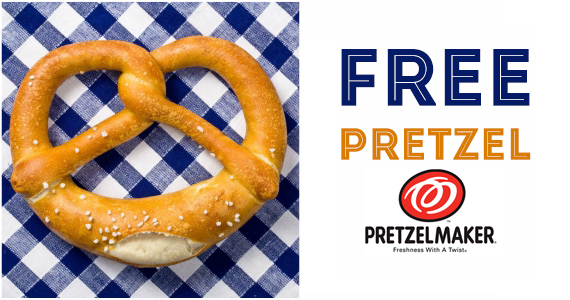 Free Pretzel TODAY From Pretzelmaker