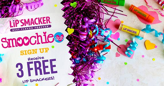 Join the Smoochie Club & Get 3 FREE Lip Smackers