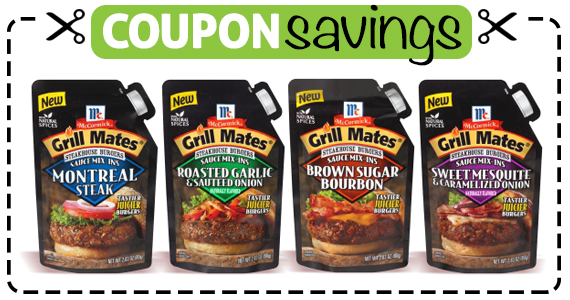 Save 50¢ off McCormick Grill Mates