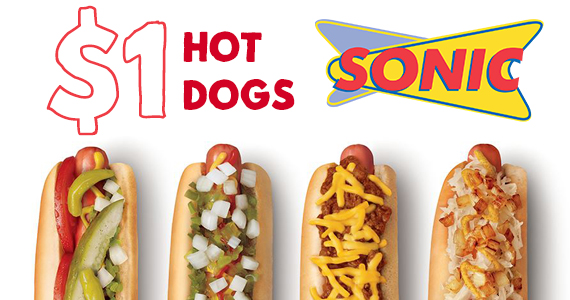 $1 Hot Dogs TODAY ONLY At Sonic