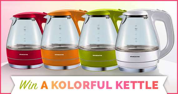 Win a Ovente Glass Electric Kettle