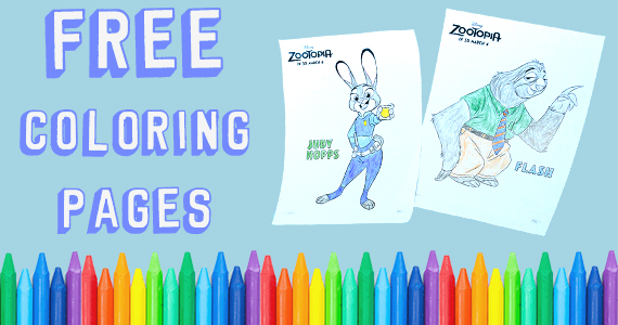 Free Zootopia Coloring Pages