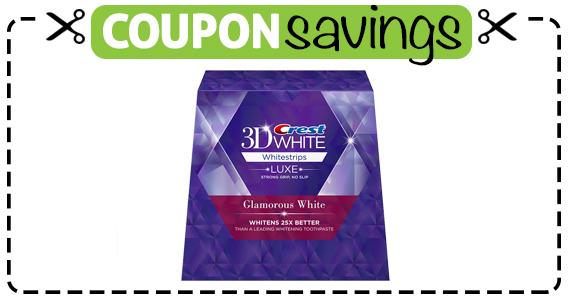 Save $3 off Crest 3D Glamorous Whitestrips