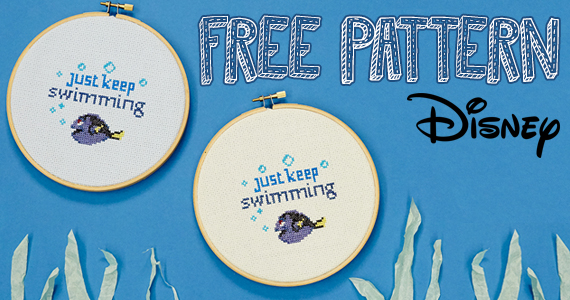 Free Just Keep Swimming Dory Cross Stitch