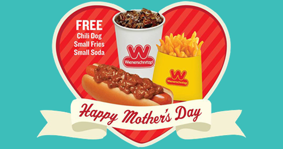Mom's Eat Free At Wienerschnitzel On Mother's Day