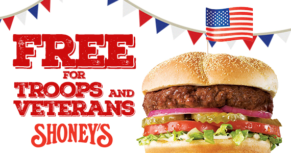 Free Shoney's All-American Burger For Service Members