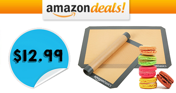 Get 2 AmazonBasics Silicone Baking Mats For $12.99