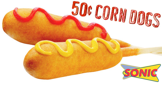 50¢ Corn Dogs All Day At Sonic