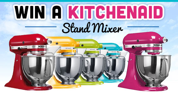 Win a KitchenAid Stand Mixer In The Color Of Your Choice!