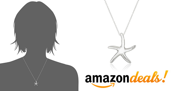 Get a Sterling Silver Starfish Necklace for $17.53