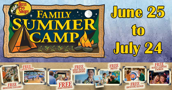 Free Family Summer Camp At Bass Pro