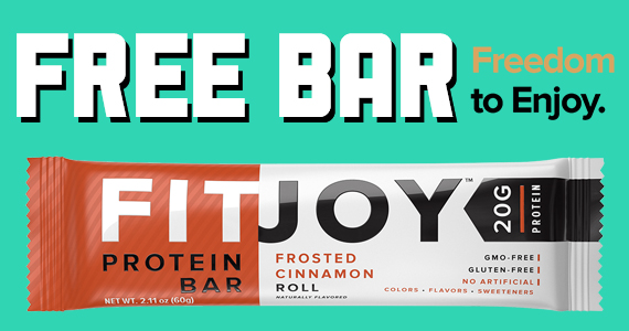 Free FitJoy Nutrition Bar