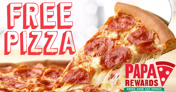 Free Pizza From Papa Johns