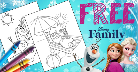 Free Printable Olaf's Summer Coloring Page
