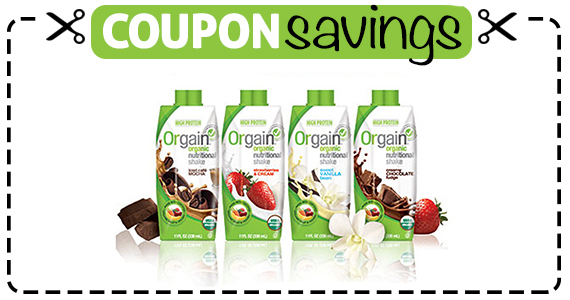 Save $2 off Orgain Organic Nutrition Shakes